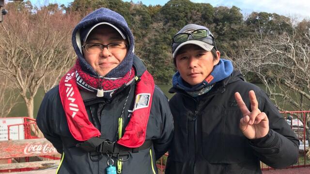 12/30  オリキンガイドサービス in 亀山ダム